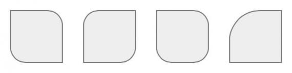 Скругленные блоки на LESS/CSS